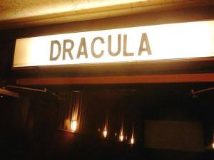 Dracula Marquee in 2013 at the McHenry Illinois Downtown Theater