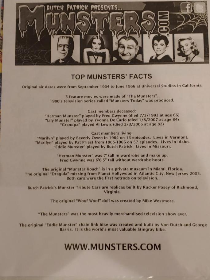 munsters facts